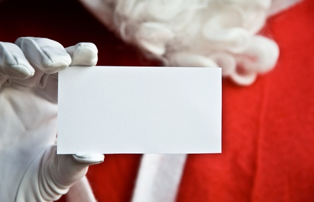pere noel: Père Noël avec carte blanche pour le texte clair Banque d'images