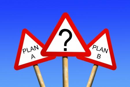 Plan A Plan B Stock Photo - 14247672