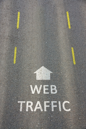 Web Traffic Stock Photo