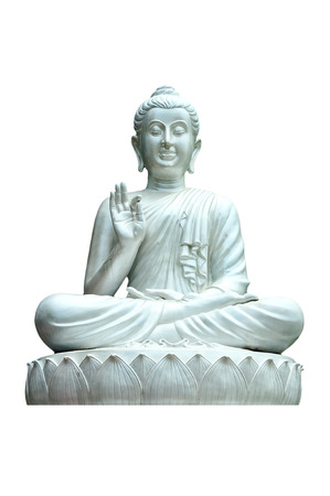 marmorate: Big white buddha.