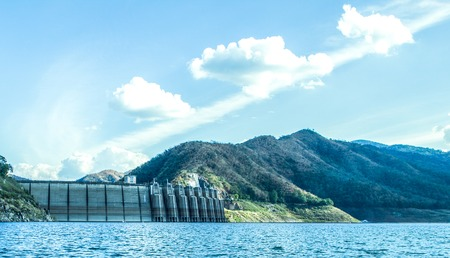 hydroelectric station: famous Bhumibol Dam in northern of Thailand