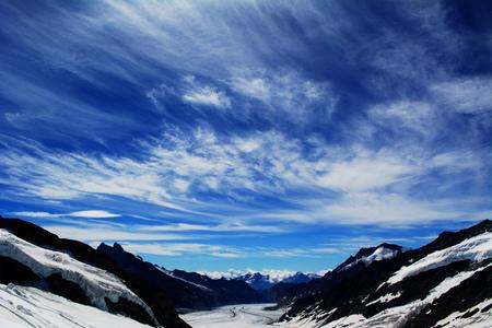 aletsch: View over the Aletsch glacier