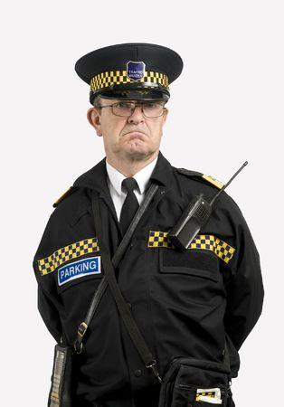 traffic warden: Traffic warden