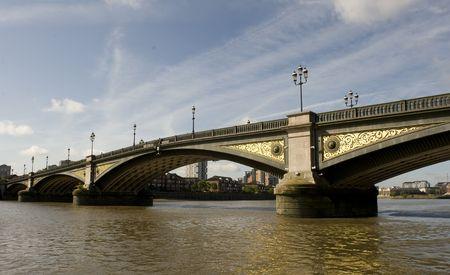 battersea: Battersea Bridge, across the Thames in London UK