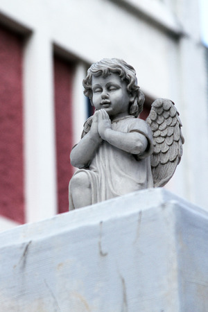 angel cemetery: Sculpture of an angel decoration cemetery Stock Photo