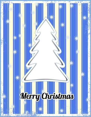Striped christmas card Vector