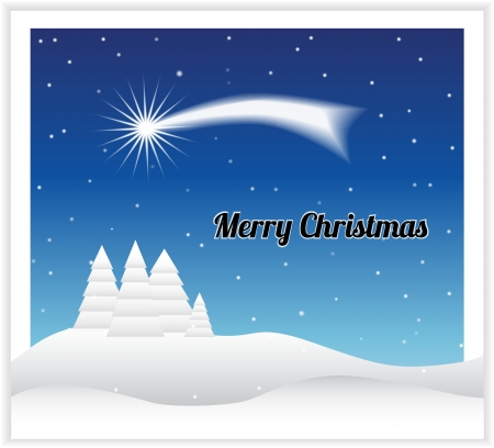 Christmas card with comet Stock Vector - 15804238
