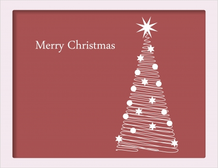 Christmas card with tree Stock Vector - 15804231