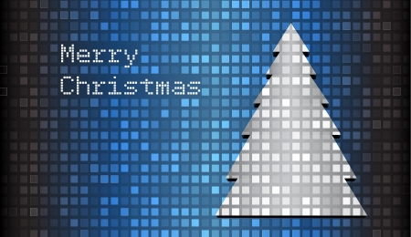 christmass: Mosaic christmas card