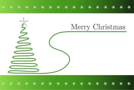 christmass: Verde Tarjeta de Navidad con el �rbol espiral