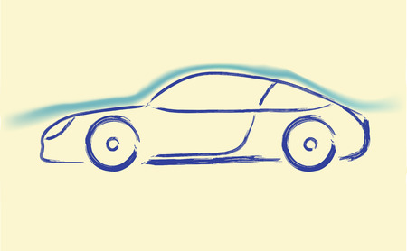 aerodynamics: aerodynamics car sketch