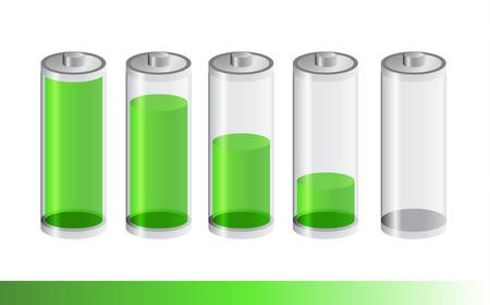 status: Five green battery status