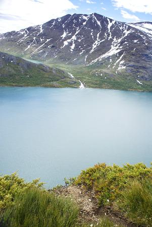 Above Gjende lake, from Bessegen, Norway Stock Photo
