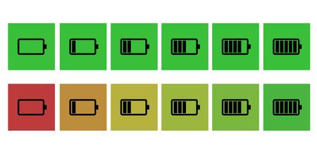 status icon: Battery status icon Illustration