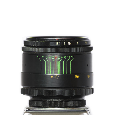 camera lens: Old lens isolated
