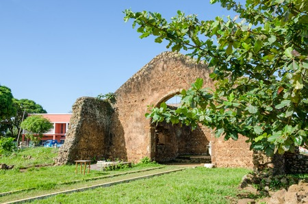 equator: First church south of equator in Africa, Angola, Mbanza Congo. The ruin is still to large parts intact today.