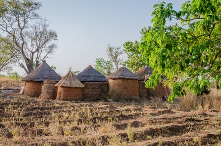 Traditional mud an clay housing of the Tata Somba tribe of nothern Benin and Togo, Africa. The fortress like build was to defend against slave raiders.