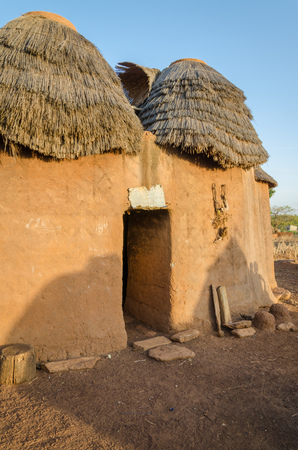 Tradiční bahno jíl skříň Tata Somba kmene severním Beninu a Togu, v Africe. Pevnost jako build měl bránit proti otrocké nájezdníky.