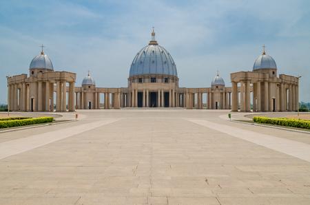 Die berühmte Grenzsteinbasilika unserer Dame des Friedens, rekordbrechender christlicher Ort der Verehrung, Yamoussoukro, die Elfenbeinküste