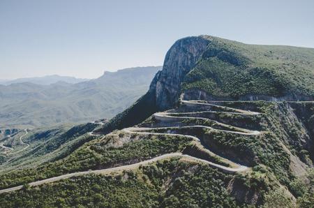 The impressive Serra da Leba mountain pass with many winding curves near Lubango, Angola