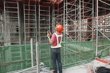 an engineer checking sitee work photo
