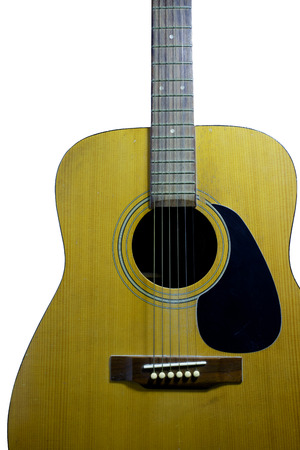 kink: The wooden guitar. Beautiful of shape  is curve.