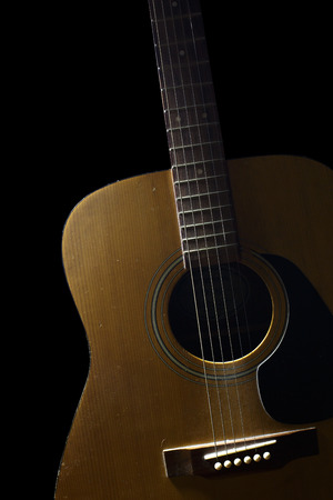 concave: The wooden guitar. Beautiful of shape  is curve.