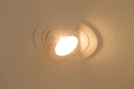 halogen lighting: Ceiling lights is the open switch.
