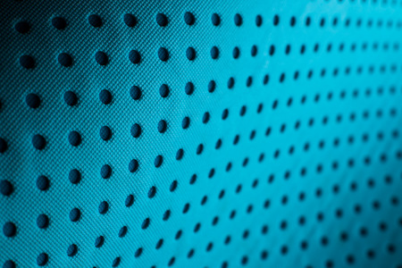 fabric design: Abstract background pattern of blue yoga mat. Stock Photo