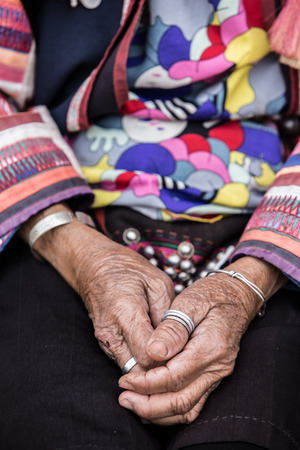 gerontology: Old hand of akha tribes.