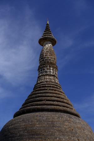 Myanmar (Burma), Mrauk U temples. Kothaung Temple - one of the Mrauk U highlights. Stock Photo