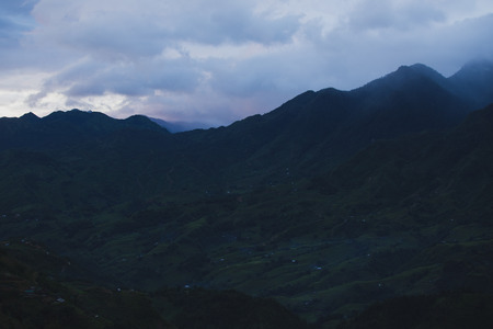 Beautiful landscape of village in Sapa, Vietnam.
