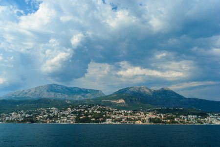 enjoyed: This is such a beautiful view can be enjoyed from a yacht in the Bay of Kotor.