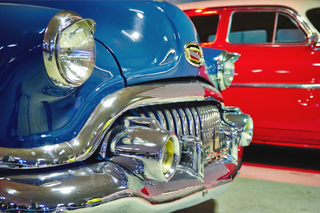 Saint-Petersburg RUSSIA - october 10 2014 Retro Car Show: Vintage american classic muscle car