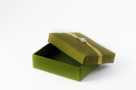 thai silk: Decorative box made of Thai silk Stock Photo