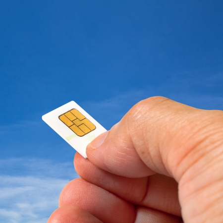 smart card: Smart card in human hand