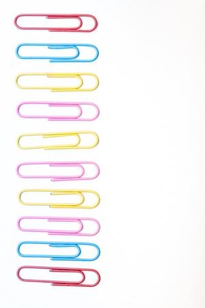 multi colour: Cerca de varios clips rayas de color Foto de archivo