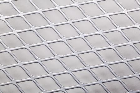 Close up of metal net photo