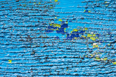 Abstract texture blue color painted on wood photo