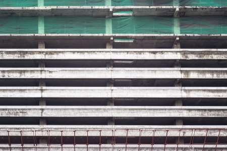 Big nets for protection falling object from high construction building photo