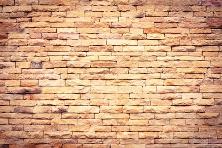 Background of brick wall texture in colf tone photo