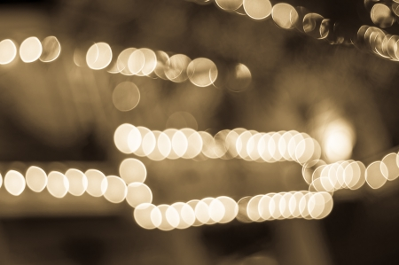 Bokeh light in line and frame photo