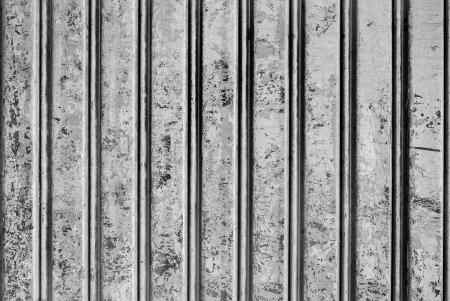 Backgroud of  grunge blue corrugated metal