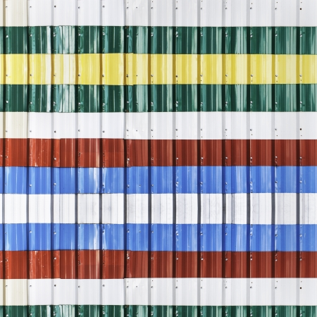 Colorful corrugated metal sheet use as background Stock Photo - 23680647