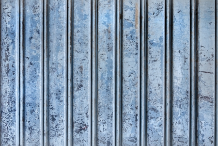 Backgroud of  grunge blue corrugated metal Stock Photo - 23937821