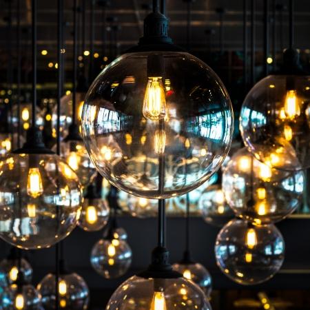 Group of light bulb decoration photo