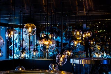 Group of light bulb decoration