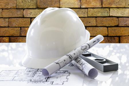 Safery helmet with architect rolls