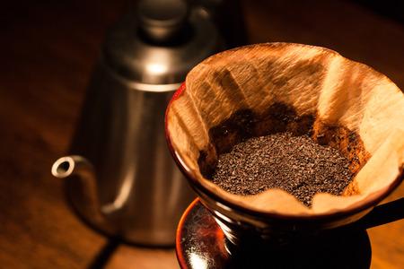 Natura morta con caffè filtro. Archivio Fotografico - 40959846