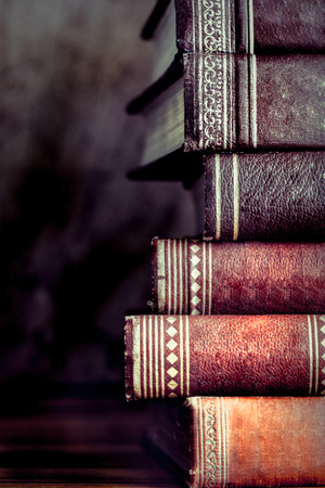 stack of old books, copyspace for your text Stock Photo